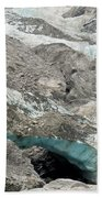 Climate Change Melting Glacier Ice And Sheer Rock Beach Towel
