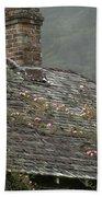 Climbing Roses Beach Towel by Ron Sanford