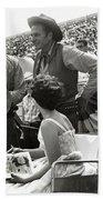 Clint Eastwood  Eric Fleming Characters Rowdy Yates Salinas California 1962 Beach Towel