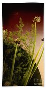 Clipped Stems Beach Towel