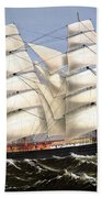 Clipper Ship Three Brothers Beach Towel by War Is Hell Store