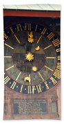 Clock Tower In Solothurn Beach Towel