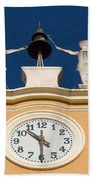 Clock Tower In Bardolino Beach Towel
