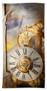Clockmaker - A Look Back In Time Beach Towel