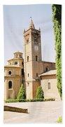 Cloister Monte Oliveto Maggiore Beach Towel