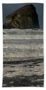 Close Haystack Rock Beach Towel