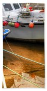Close Up Boats Beach Towel by Svetlana Sewell