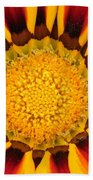 Close Up Marigold Beach Towel