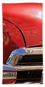 Close Up Of A Red Chevrolet Beach Towel