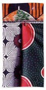Close Up Of Colorful Khangas For Sale Beach Towel