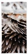 Close Up Of Heap Of Silver Forks Beach Towel