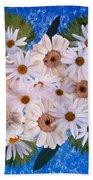 Close Up Of White Daisy Bouquet Beach Towel