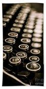 Close Up Vintage Typewriter Beach Towel by Edward Fielding
