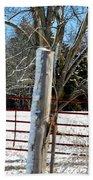 Closed Gate In Winter  Beach Towel