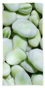 Closeup Of Fresh Fava Beans Beach Towel