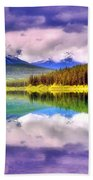 Cloud Cover On Lake Patricia Beach Towel