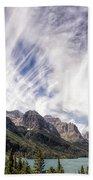 Cloud Formation At Saint Mary Lake Beach Towel