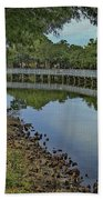 Cloud Reflection At The Pond Beach Towel