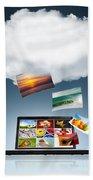 Cloud Technology Beach Towel