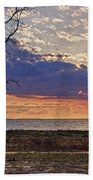 Clouding Up On Oyster Bay Beach Towel