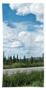 Clouds Above Taylor Highway To Chicken-ak Beach Towel