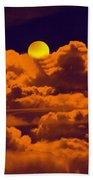 Clouds And The Moon Beach Towel