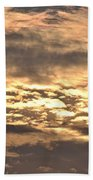 Clouds At Sunset Beach Towel