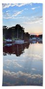 Clouds In The Water Beach Towel