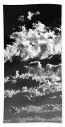 Clouds Of Freycinet Bw Beach Towel