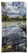 Clouds On The Water Beach Towel