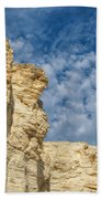 Clouds Over Chalk Pyramids Beach Towel