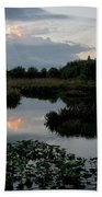 Clouds Over Green Cay Wetlands Beach Towel by Mark Newman