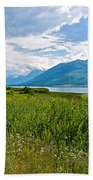 Clouds Over Jackson Lake In Grand Teton National Park-wyoming Beach Towel