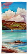 Clouds Over Paradise Beach Towel