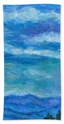 Clouds Over The Blue Ridge Beach Towel