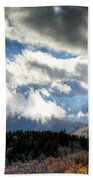 Clouds Over The Blue Ridge Mountains Beach Towel