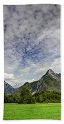 Clouds Over The Mountains Beach Towel