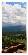 Clouds Over The Rockies Beach Towel