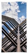 Cloudy Building Beach Towel