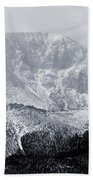 Cloudy Misty Pikes Peak Beach Towel