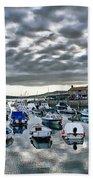 Cloudy Morning - Lyme Regis Harbour Beach Towel