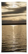 Cloudy Sunrise Beach Towel