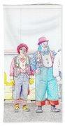 Clown Lineup Beach Towel