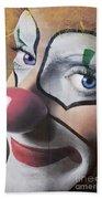 Clown Mural Beach Sheet