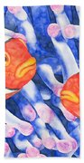 Clownfish Couple Beach Sheet