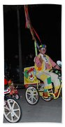 Clowns On Bikes Beach Towel