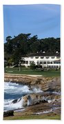 Clubhouse At Pebble Beach Beach Towel