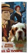 Clumber Spaniel Art - Irma La Douce Movie Poster Beach Towel