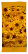 Cluster Of Yellow Blooms Beach Towel