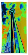 Cn Tower Abstract Beach Towel